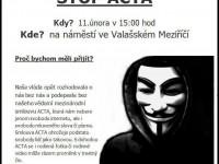 Protest proti dohodě ACTA ve Valašském Meziříčí