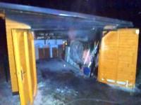 Požár u garáže rodinného domu ve Zlíně