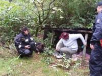 Pátrací akce v okolí Vizovic, pohřešovanou objevil pes Clark