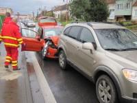 Havarovaná vozidla blokovala provoz v Uherském Hradišti