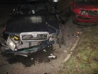 Ke střetu dvou vozidel došlo nedaleko stanice ve Valašském Meziříčí