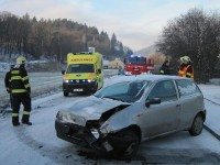 Bystřička - při dopravní nehodě dvou vozidel zraněny tři osoby