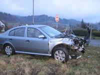 Halenkov - nehoda na železničním přejezdu se obešla bez zranění