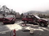 Dopravní nehoda tří vozidel zablokovala část obchvatu Vsetína