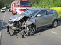 Podlesí - z šesti účastníků nehody skončili tři v nemocnici