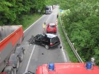 Dopravní nehoda tří vozidel zablokovala silnici I/57